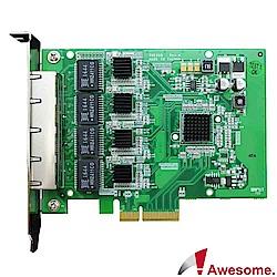 Awesome 伺服器級四埠GigaLAN網路卡-AWD-PXE608