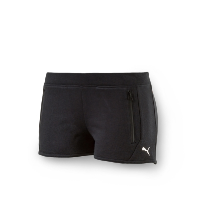PUMA - 女性 法拉利經典系列棉短褲-暗月黑