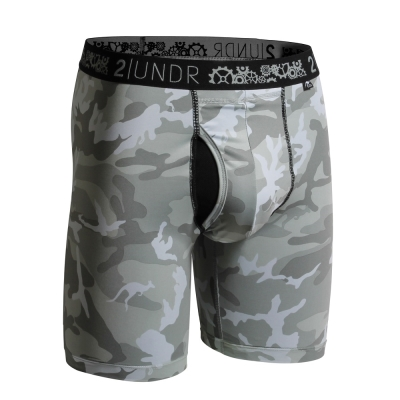 2UNDR Gear Shift 極限運動快乾貼身內褲(9吋)-白迷彩