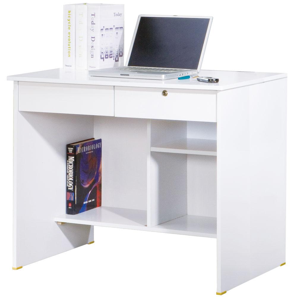 居家生活 書香園2尺電腦書桌下座-白色
