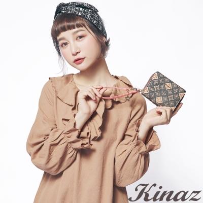 KINAZ 星夜戀歌兩折式短夾-銀調浪漫-流星雨系列