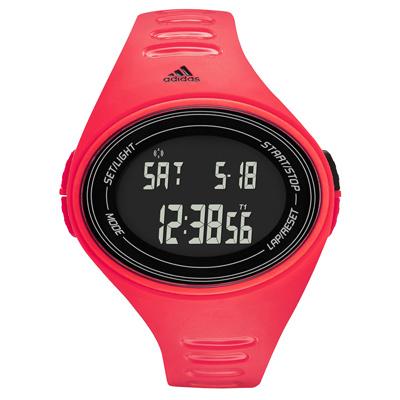 adidas 橢圓百搭數位電子腕錶-紅/48mm