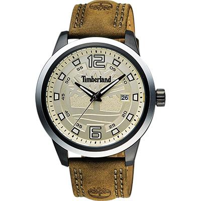 Timberland Seattle 城市漫步時尚腕錶-黃x軍綠/42mm