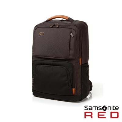 Samsonite-RED-EGERTON超大容量點綴色塊後背包L-15-6吋-茶褐