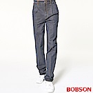 BOBSON 男款雙活摺休閒牛仔褲