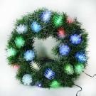 20吋LED松果燈光纖聖誕花圈