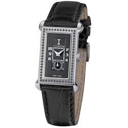 ICEBERG 舊愛新歡系列皮帶錶-黑x真鑽/34mm