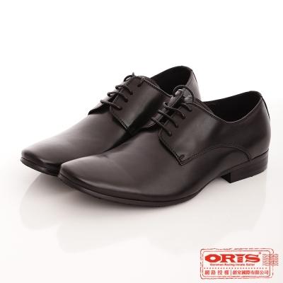 ORIS 男 時尚簡約風格綁帶紳士皮鞋~黑