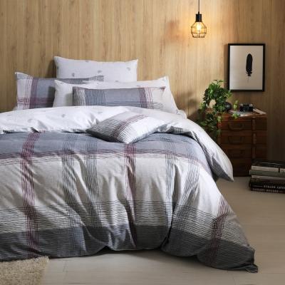 GOLDEN TIME 早安紐約 100%純棉 兩用被床包組 雙人