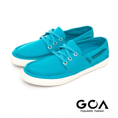 GOA 女款素面休閒低筒帆布鞋-淺藍色