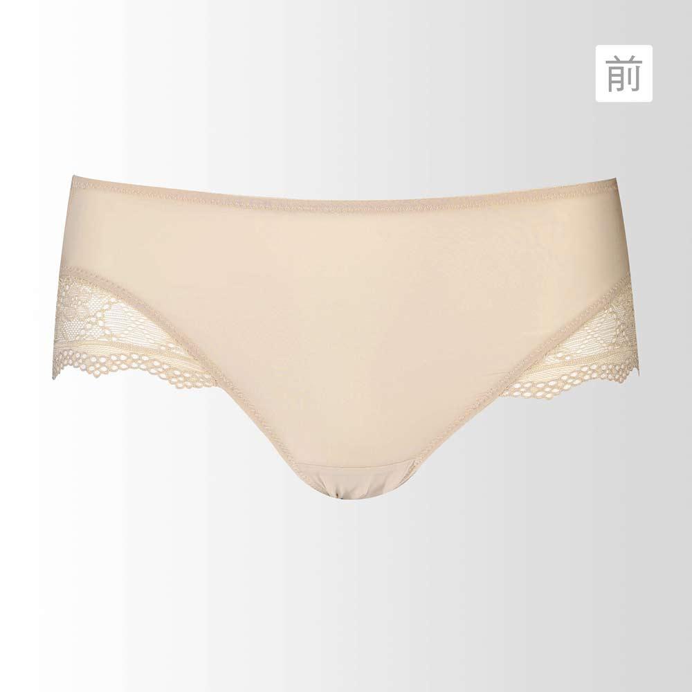 蕾黛絲-挺素面-輕真水版-平口褲 M-L(百搭膚)