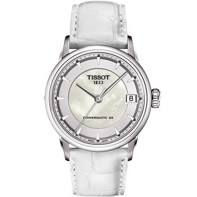 TISSOT T-Classic Luxury 機械腕錶-珍珠貝/33mm