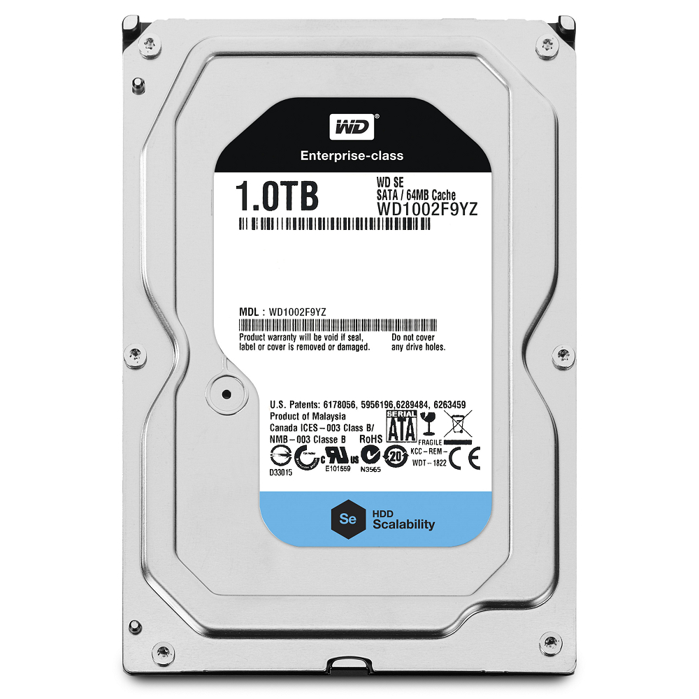 WD 企業級Se 1TB 3.5吋雲端硬碟(WD1002F9YZ)