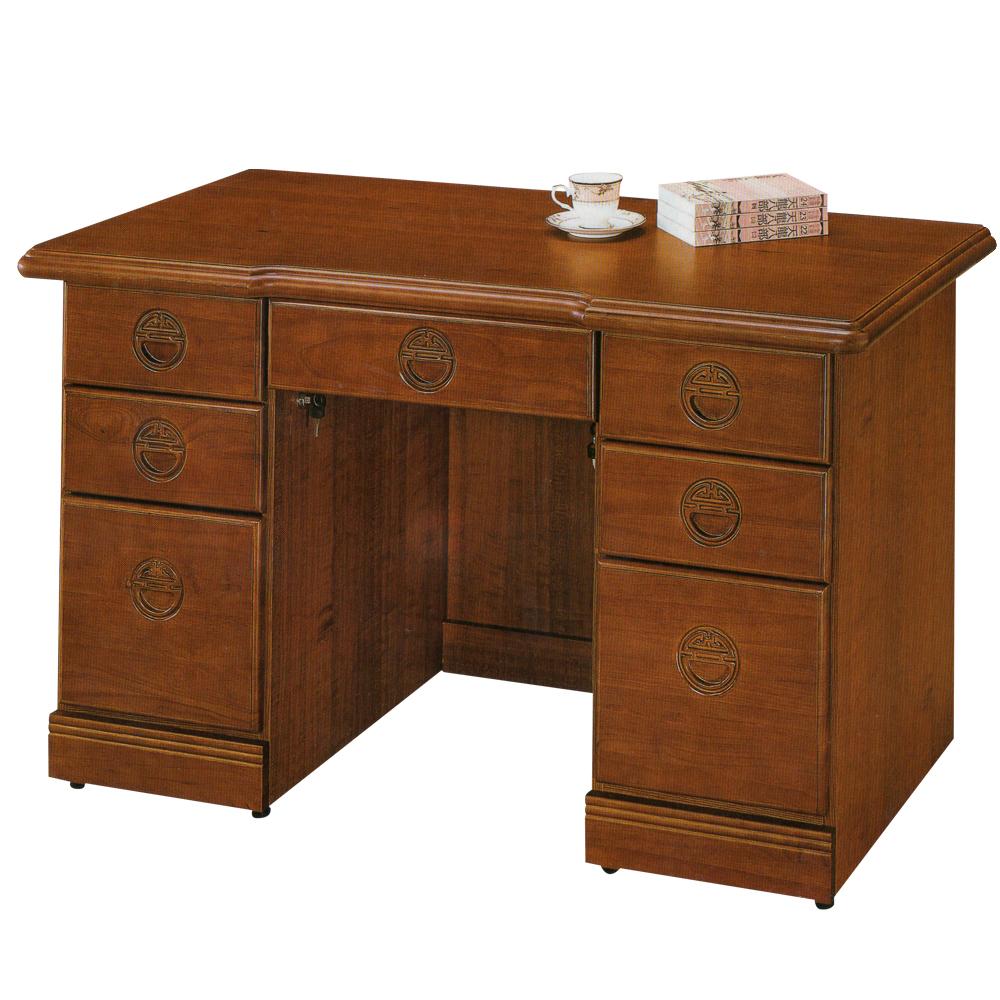時尚屋 正樟木4.2尺辦公桌 寬127.3cm