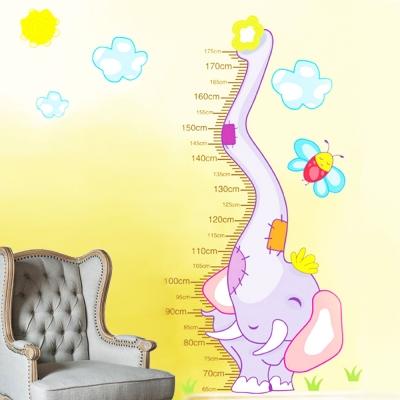 D-001童趣生活系列-大象身高尺 大尺寸高級創意壁貼 / 牆
