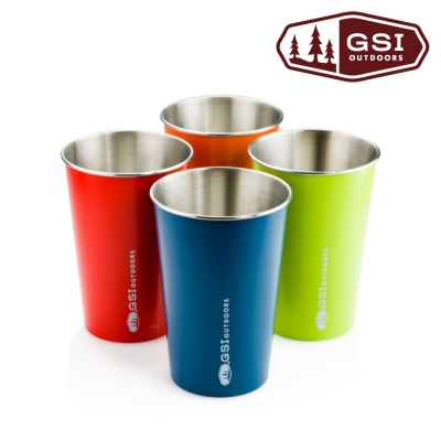 【美國 GSI】Glacier Stainless Pint Set 不鏽鋼品脫杯 四色