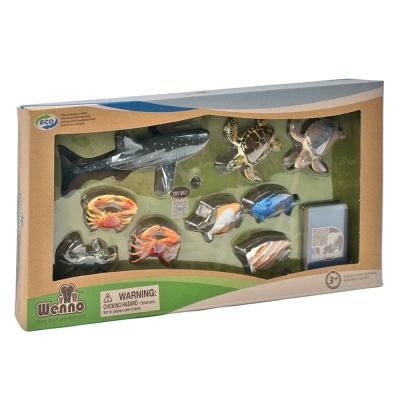 Wenno動物模型 海洋系列 印度洋海洋生物9入 WIN06001