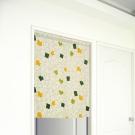 布安於室-綠方格遮光門簾-寬100x高130cm
