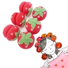 日本神奇草莓海綿捲髮球睡眠捲髮球(6入)俏麗捲髮
