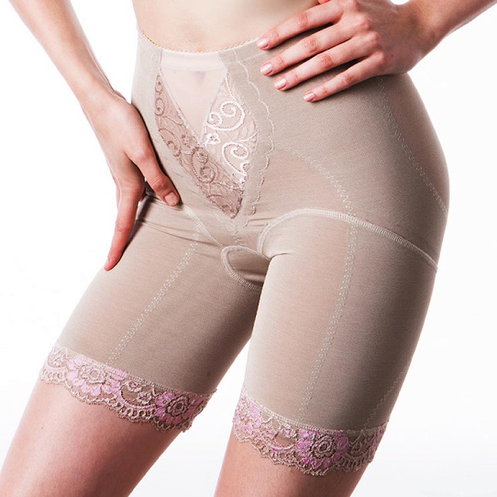 【LADY】花沁系列 中機能長束褲(棕粉)