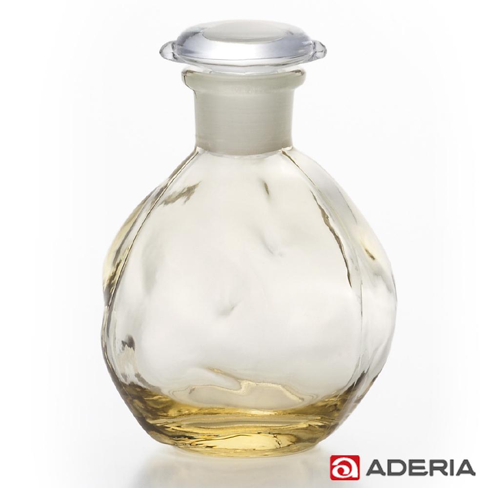【ADERIA】日本進口圓形玻璃調味罐100ml(黃)