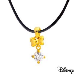 Disney迪士尼金飾 蝴蝶美妮黃金墜子 送項鍊