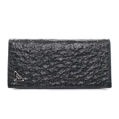 XINWEI POLO 英式設計質感鴕鳥壓紋小牛皮長夾-86340-C
