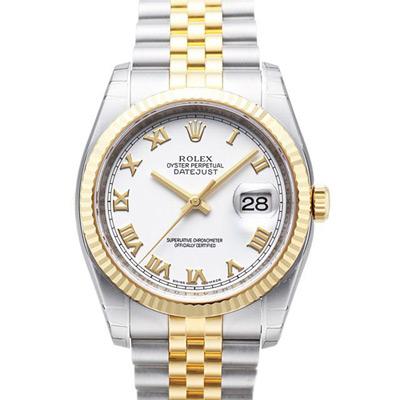ROLEX 勞力士 DateJust 116233 蠔式恆動日誌型錶 -羅馬白面/37mm