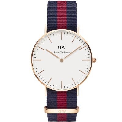 DW Daniel Wellington 尼龍腕錶-白/36mm