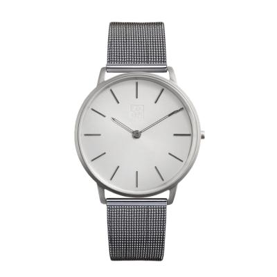 ZOOM 極簡超薄米蘭腕錶-銀白 /42mm