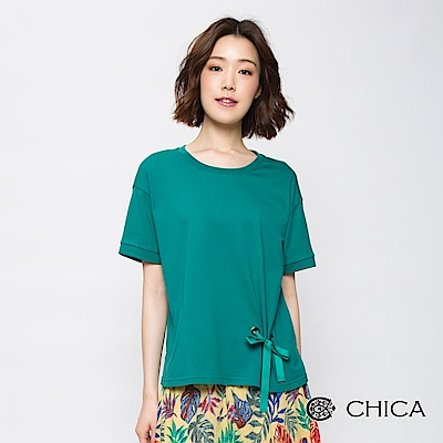 CHICA 不凡甜美穿綁蝴蝶結造型上衣(3色)