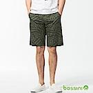 bossini男裝-休閒印花短褲01暗綠