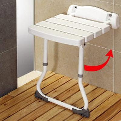 COLOR壁式安全附腳洗澡椅(抗菌防霉)