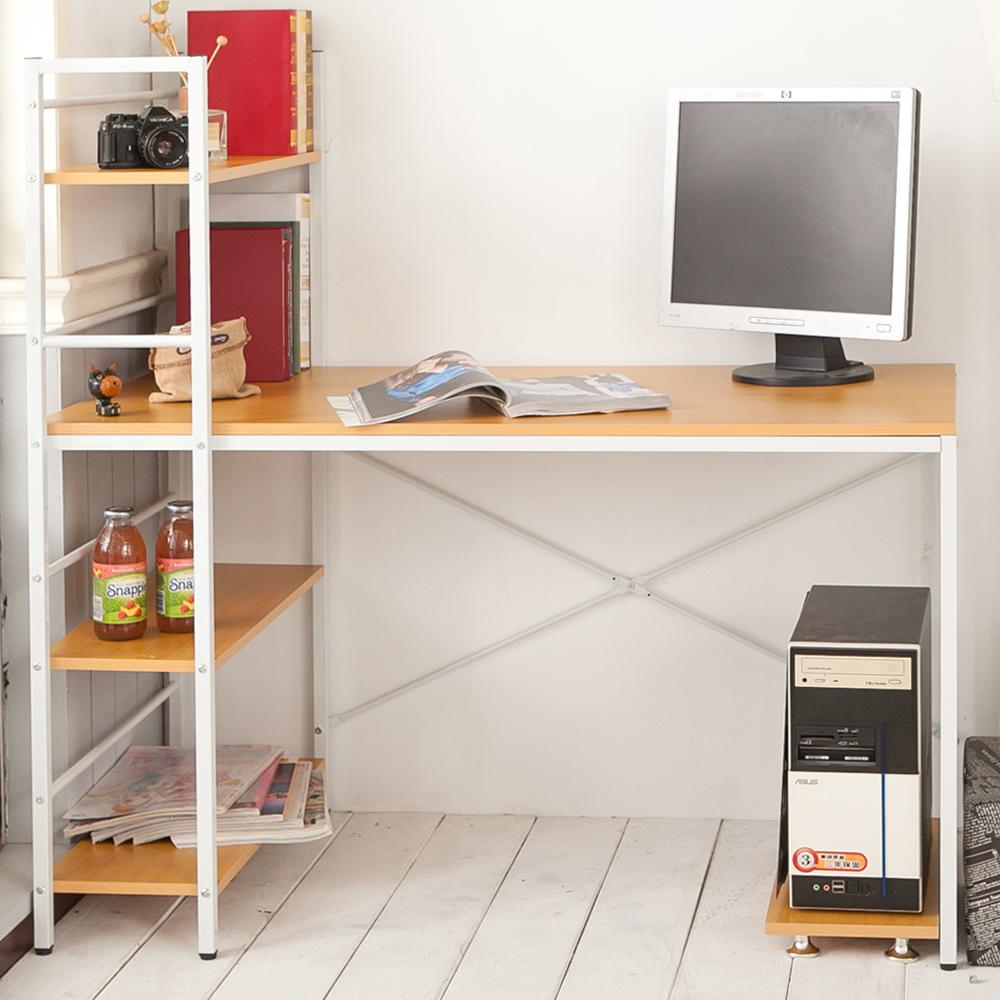 創樂家居 機能加深60公分雙向層架工作桌+送同色主機架-DIY