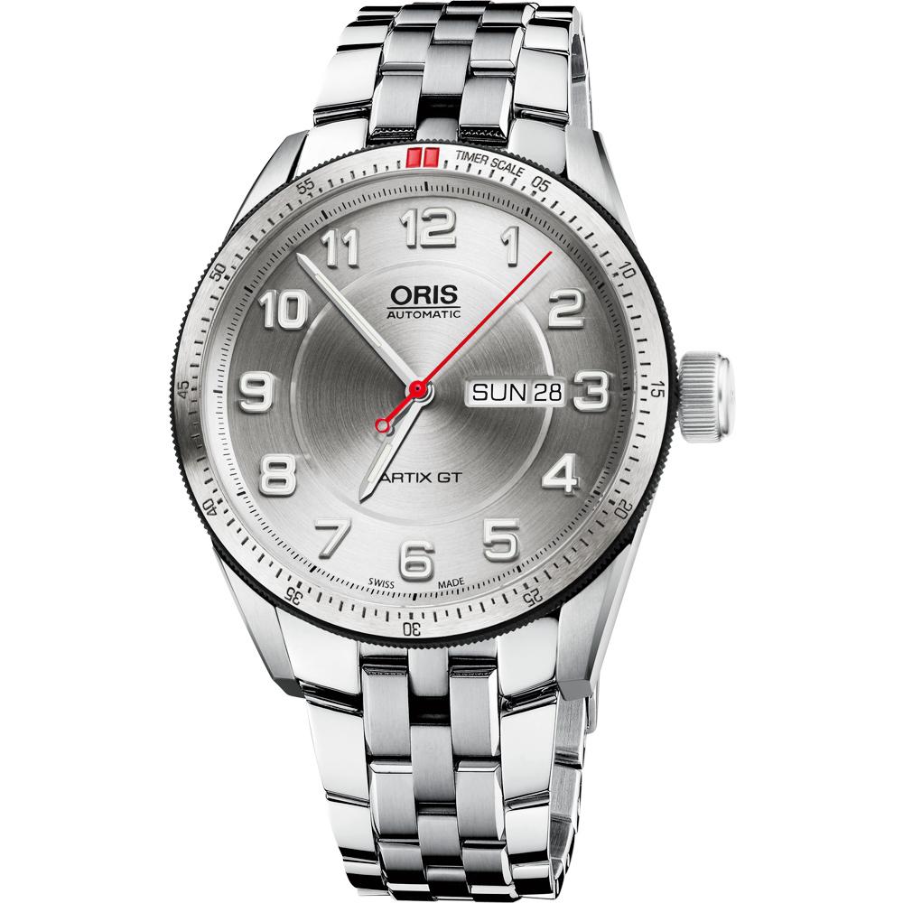 Oris 豪利時 Artix GT Day Date 機械腕錶-銀/42mm