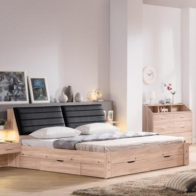 Bernice-盧斯卡5尺雙人床組(床頭箱+抽屜床底)(不含床墊)