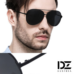 DZ 飛官焦點 抗UV 偏光太陽眼鏡墨鏡(黑框灰片)