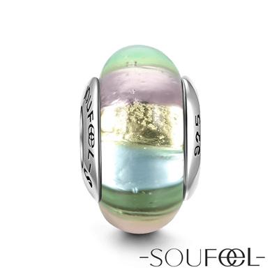 SOUFEEL索菲爾 925純銀珠飾 銀色妝扮 琉璃珠