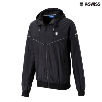 K-Swiss Basic Windbreaker風衣外套-男-黑