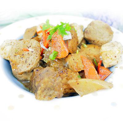高興宴 素人上菜-賺四方紅燒魚豆腐500g(蛋奶素)(適合5-7人)