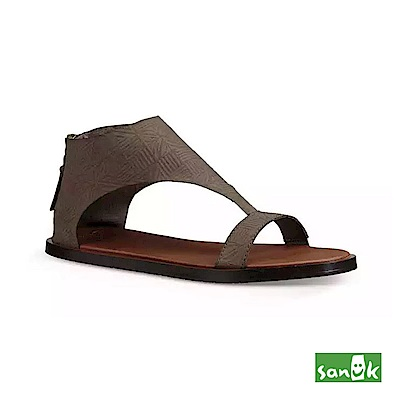SANUK 幾何壓紋瑜珈墊涼鞋-女款(灰色)