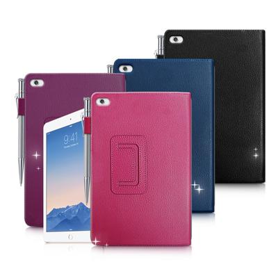 Apple iPad mini 4 經典商務書本式 磁扣支架保護套