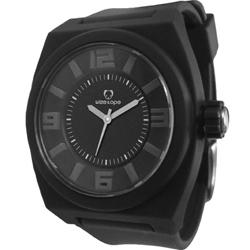 Wize&Ope June系列旋風黑潮休閒腕錶-黑x銀白色指針/40mm