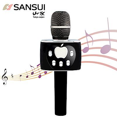 【SANSUI】<b>1</b>對<b>2</b>藍芽K歌神麥SB-K77(黑)