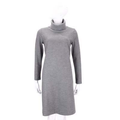 FABIANA FILIPPI 灰色高領羊毛洋裝( 98 %MERINO WOOL)