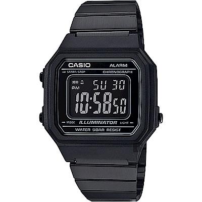 CASIO卡西歐 復古文青大數字電子錶-黑