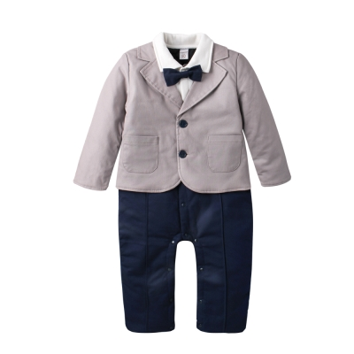 baby童衣 鋪棉西裝外套假三件爬服 60337