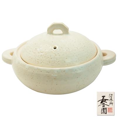 日本長谷園伊賀燒 多用途女子陶鍋(白)