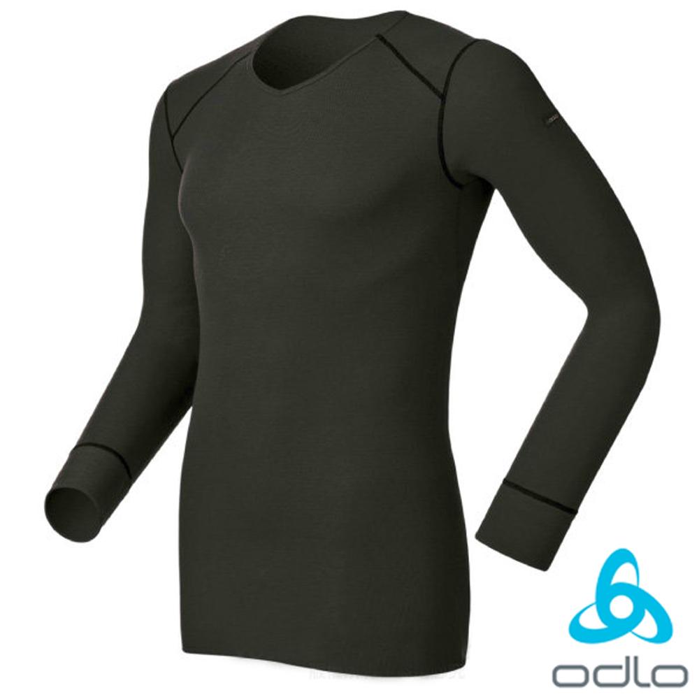 【瑞士 ODLO】WARM EFFECT 男V領專業機能型銀離子保暖內衣/黑