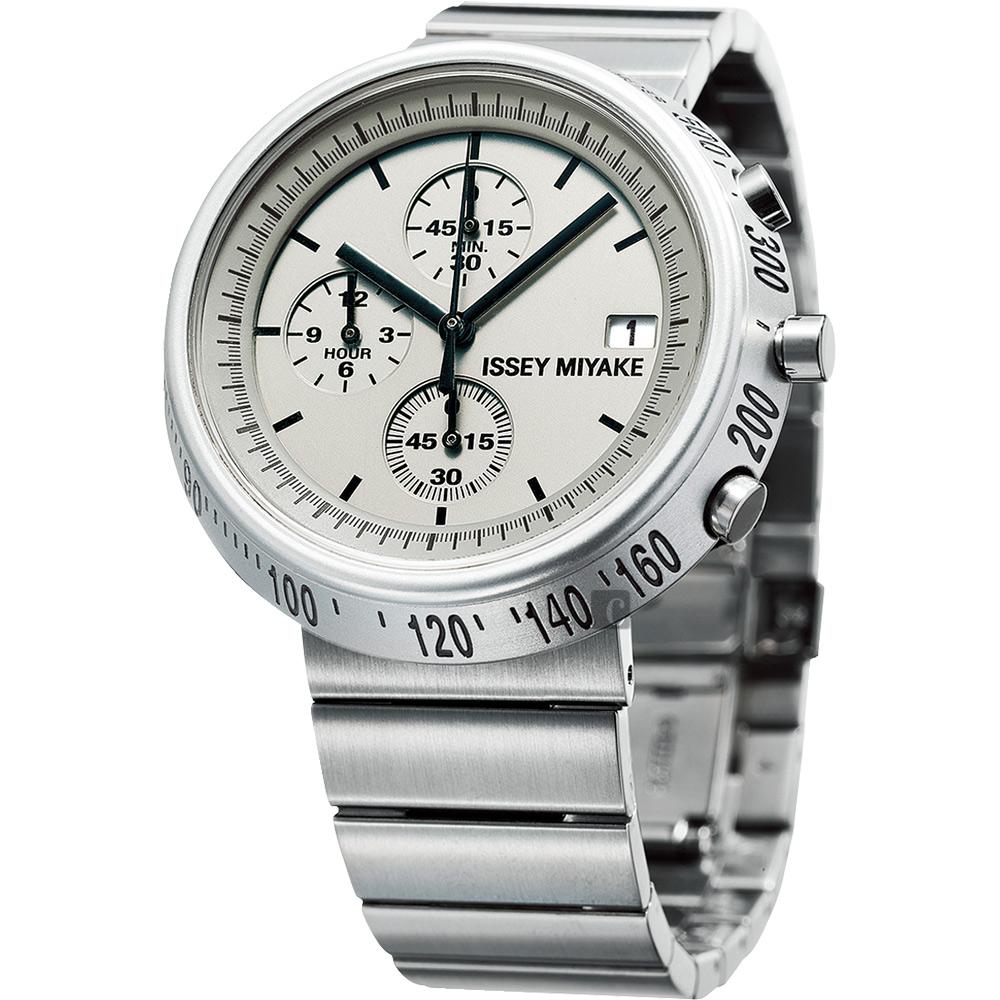 ISSEY MIYAKE 三宅一生TRAPEZOID 系列計時手錶(SILAZ002Y)